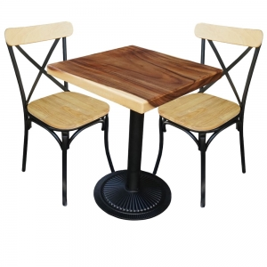 Bộ Bàn Cafe Gỗ Me Tây Và 2 Ghế Tỷ Tôm CBCF053