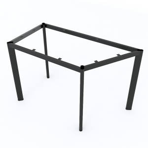 Chân sắt cho bàn hình thang vuông 120x60cm sắt Oval hệ Lego 2 HCLG004