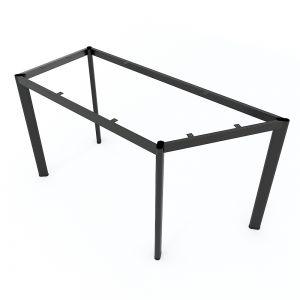 Chân sắt cho bàn hình thang vuông 140x60cm sắt Oval hệ Lego 2 HCLG005