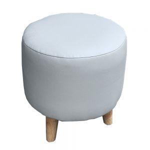 Ghế đôn sofa nệm tròn chân gỗ GDSF001