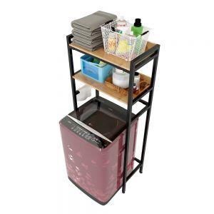 Kệ để đồ 2 tầng cho máy giặt cửa trên 72x40x180cm KMG68011