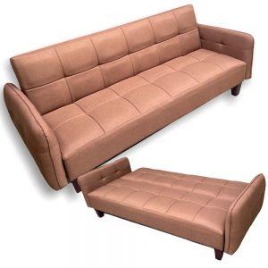 Sofa giường, sofa bed nệm màu cafe đậm BNS1802
