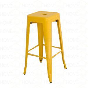 HOGCF124a- Ghế cafe tolix cao không lưng nhiều màu (màu vàng) (117cmx30cmx30cm)