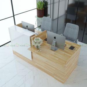 BLT68001 - Bàn lễ tân nhỏ bằng gỗ tự nhiên - 200x90x105 (cm)
