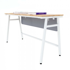 Bàn học đôi Azura 03 gỗ cao su chân sắt sơn tĩnh điện PSD015