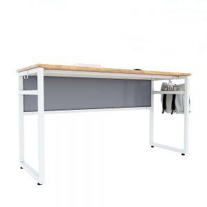 Bàn học đôi NEMO 03 gỗ cao su chân sắt sơn tĩnh điện PSD018