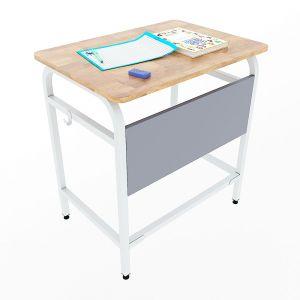 Bàn học đơn UNI 01 gỗ cao su chân sắt sơn tĩnh điện PSD020