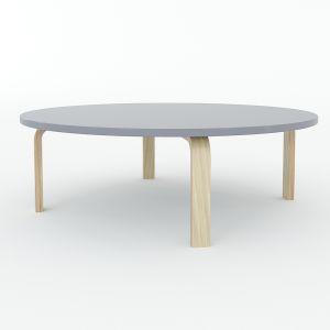 Bàn mầm non ngồi bệt mặt bàn tròn 80x80x28cm gỗ cao su nhiều màu KGD018