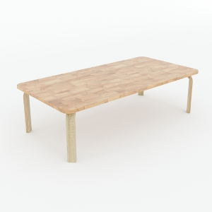 Bàn mầm non chữ nhật ngồi bệt 100x50x53cm gỗ cao su nhiều màu KGD017