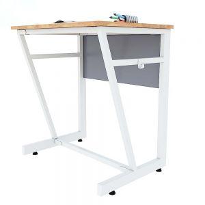 Bàn học đơn VICTOR 01 gỗ cao su chân sắt sơn tĩnh điện PSD008