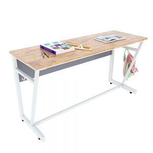 Bàn học đôi VICTOR 03 gỗ cao su chân sắt sơn tĩnh điện PSD010
