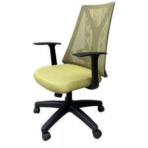 Ghế văn phòng chân xoay nệm màu xanh olive HOM1087D-02