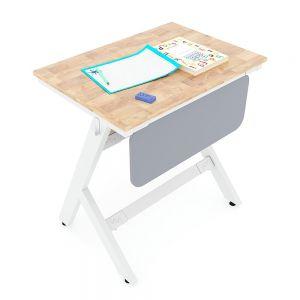 Bàn học đơn YARIS 01 gỗ cao su chân sắt sơn tĩnh điện PSD003