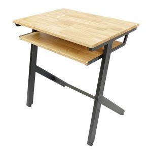 Bàn học đơn có hộc YARIS 02 gỗ cao su chân sắt sơn tĩnh điện PSD004