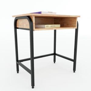 Bàn học đơn có hộc UNI 02 gỗ cao su chân sắt sơn tĩnh điện PSD005