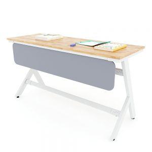 Bàn học đôi YARIS 03 gỗ cao su chân sắt sơn tĩnh điện PSD007