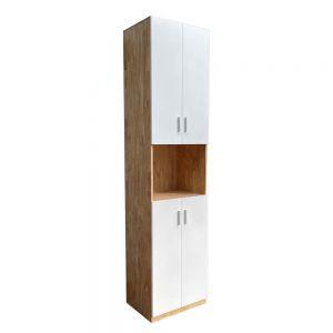 Tủ hồ sơ cao gỗ cao su 5 tầng 2 cửa 50x40x220cm THS68045