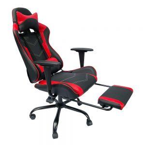 Ghế chơi game 7188 ngả lưng có gác chân đen đỏ GC68018
