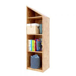 Kệ sách 4 tầng gỗ cao su màu gỗ tự nhiên BSS003