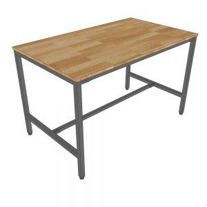 Bàn ăn 120x70cm gỗ cao su chân sắt sơn tĩnh điện BA68040