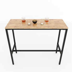 Bàn bar 120x45cm gỗ cao su chân sắt sơn tĩnh điện BB003