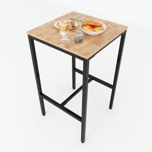 Bàn bar vuông 60cm gỗ cao su chân sắt sơn tĩnh điện BB001