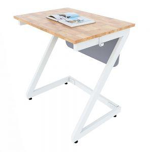 Bàn học đơn Zeus 01 gỗ cao su chân sắt sơn tĩnh điện PSD023