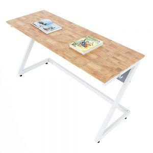 Bàn học đôi Zeus 03 gỗ cao su chân sắt sơn tĩnh điện PSD025