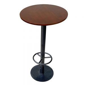 Bàn bar tròn 60cm gỗ cao su chân sắt sơn tĩnh điện BB005