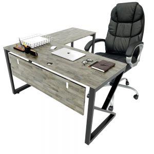 Combo Bàn làm việc chữ L và ghế giám đốc nệm simili cao cấp CB68118