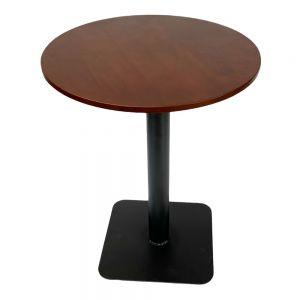 Bàn cafe tròn 60cm gỗ cao su chân sắt đế vuông CFD68077