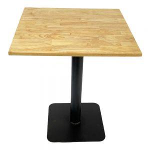 Bàn cafe vuông 60cm gỗ cao su chân sắt đế vuông CFD69079