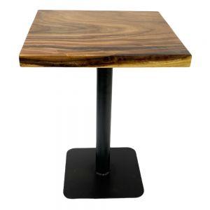 Bàn cafe gỗ me tây dày 5cm chân sắt sơn tĩnh điện BMT063