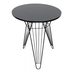 Bàn cafe tròn 60cm gỗ cao su chân sọc phi CFD68080
