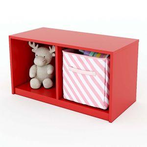 Tủ mầm non 2 ngăn đơn giản gỗ cao su nhiều màu KGS002