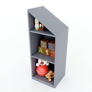 Tủ mầm non 3 tầng gỗ cao su nhiều màu KGS010