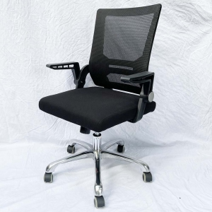 Ghế chân xoay lưng lưới tay lật MFK06