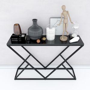 Bàn console, bàn trang trí mặt gỗ khung sắt sơn tĩnh điện CST006