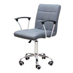 Ghế chân xoay có tay nệm màu xám GAKJB-1064X
