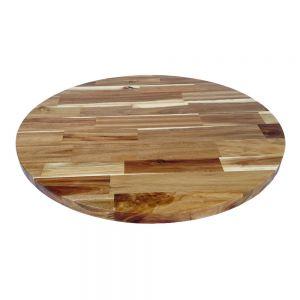 Mặt bàn tròn 60cm gỗ tràm dày 25mm MB014