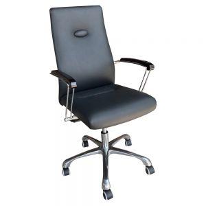 Ghế văn phòng chân xoay nệm bọc simili MFB011