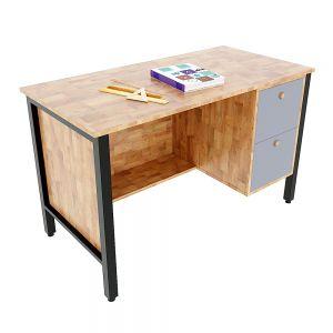 Bàn giáo viên có tủ 2 ngăn gỗ cao su chân sắt BGV001