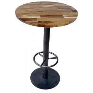 Bàn bar gỗ tràm dày 25mm chân sắt sơn tĩnh điện BB007