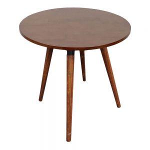 Bàn cafe tròn 60cm gỗ cao su chân gỗ CFD68081