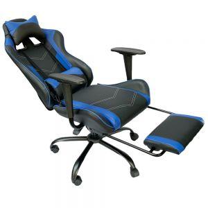 Ghế chơi game 7188 ngả lưng có gác chân xanh đen GC68022