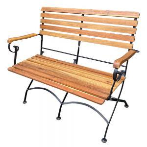 Ghế đôi gấp gọn REFORD gỗ tràm khung sắt GBD009