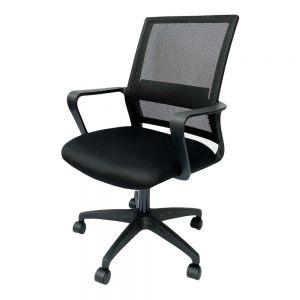 Ghế văn phòng chân xoay lưng lưới màu đen GSP04