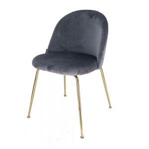 Ghế trang điểm Lucas-AS chân sắt mạ vàng nệm nhiều màu GTD007