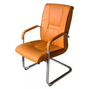 Ghế chân quỳ nệm màu nâu vàng sang trọng MFC04A