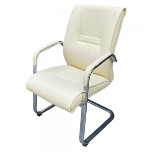 Ghế chân quỳ nệm bọc simili cao cấp màu kem MFC04B